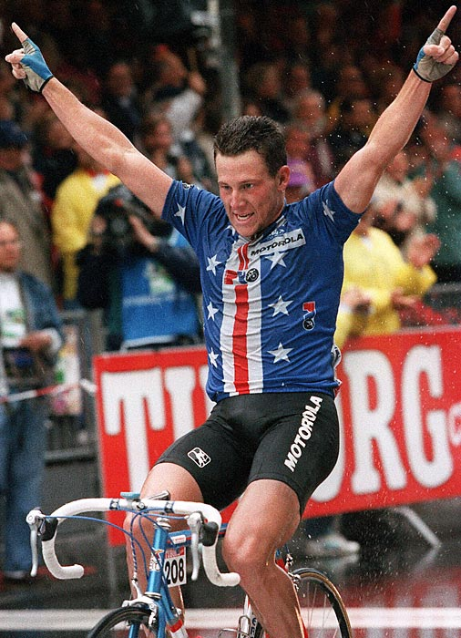 Armstrong won the road race at the 1993 World Cycling Championships, one of the breakthrough moments for the up-and-coming cyclist.