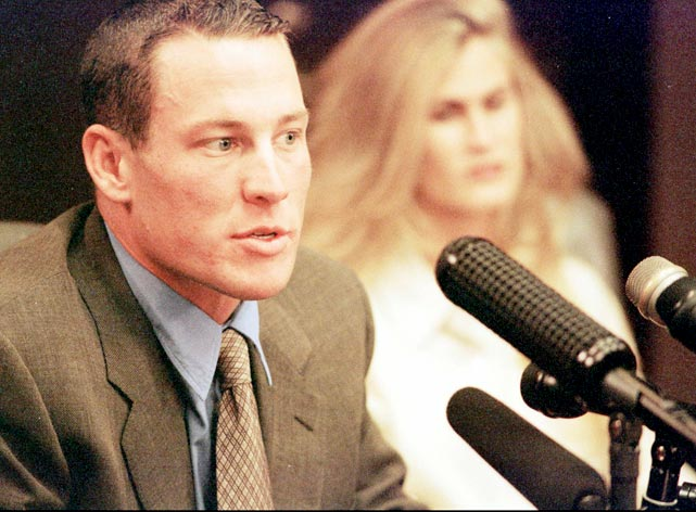 On October 2, 1996 Lance Armstrong, the No. 1 cyclist in the U.S., was diagnosed with stage three testicular cancer, which had spread to his lungs, abdomen and brain.