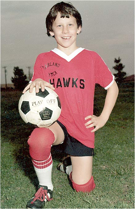 Lance also played soccer for the Garland Y when he was in the fifth grade.