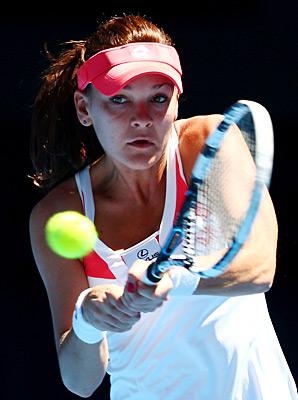 Agnieszka Radwanska got past Romanian Irina-Camelia Begu 6-3, 6-3.