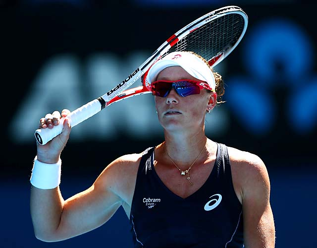 No. 9 Sam Stosur fell to 15-11 all time at the Australian Open.