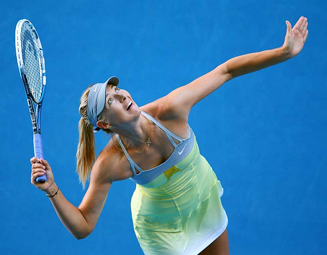 Maria Sharapova became the first player since 1985 to win her first two matches 6-0, 6-0 at a major.