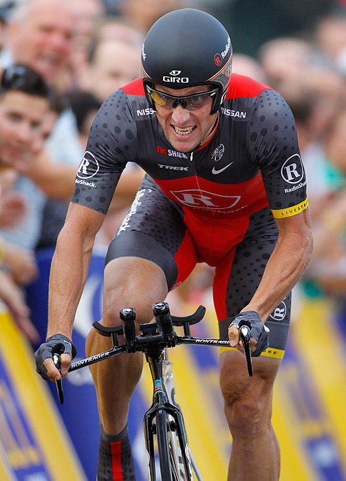 Armstrong rode in the 2010 Tour de France with the U.S.-based Radio Shack team. He struggled in several stages and eventually finished 23rd.