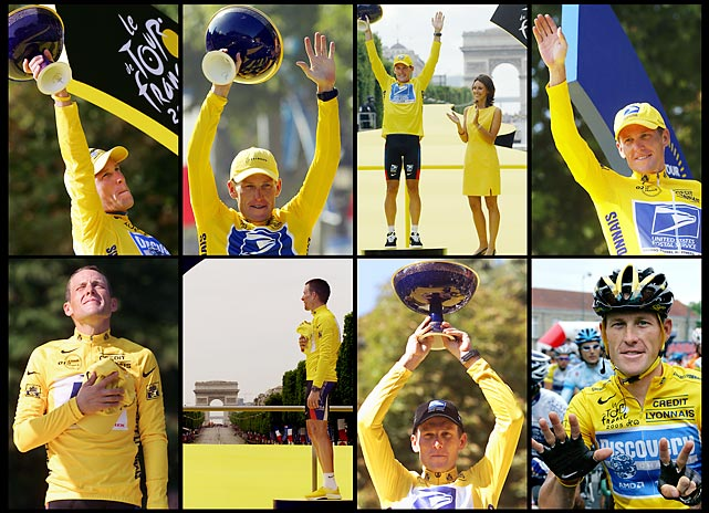 USADA reveals over 1,000 pages of evidence that Armstrong doped, Armstrong stripped of seven TDF titles