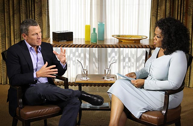 Armstrong admits to dopingAfter a decade of denial, Armstrong confessed in a tv interview with Oprah Winfrey that he used performance-enhancing drugs to win the Tour de France. The confession was a stunning reversal, after years of public statements, interviews and court battles in which he denied doping and zealously protected his reputation.