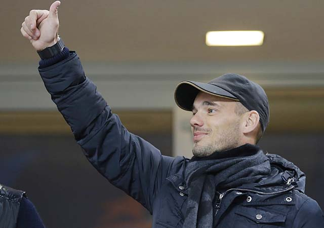 Dutch international Wesley Sneijder has been with Inter Milan since 2009.