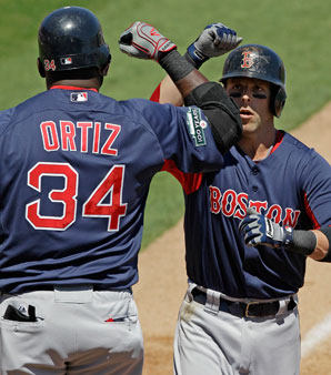 David Ortiz, Dustin Pedroia and the Red Sox will play in the year's first exhibition game.