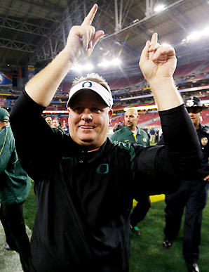 Under Chip Kelly's watch, Oregon has finished in the top five in the nation on offense for the last three years.