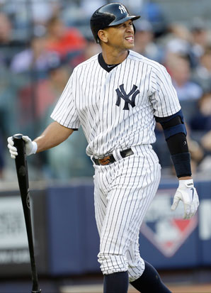 Alex Rodriguez was hurt when he struggled badly during the Yankees' ALCS loss to the Tigers.