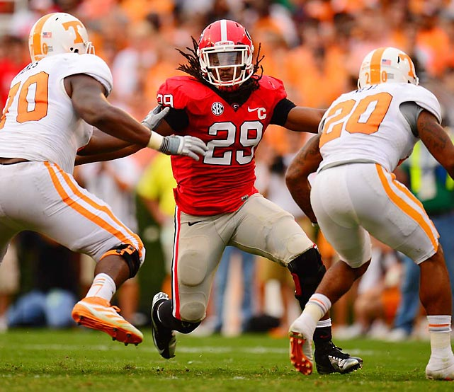 A neck injury and disagreements with the medical staff led Jarvis Jones out of Southern California, and the state of Georgia will always be grateful. The linebacker made 28 sacks and 44 tackles for loss in his two seasons with the Bulldogs, leading the SEC in both categories in 2011 and 2012. The NCAA's leader in sacks and tackles for loss last season will go high in the draft.