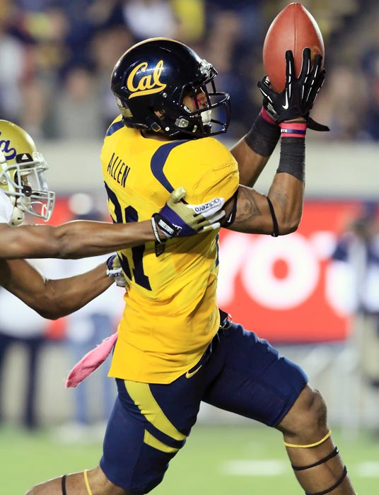 Perhaps the top wide receiver of this draft class, Keenan Allen saw his stats dip in 2012 with Cal's struggles at quarterback. The potential Allen showed as a sophomore -- 98 catches for 1,343 receiving yards -- has drawn him plenty of attention.