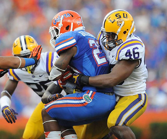 Kevin Minter's 130 tackles were third best in a loaded SEC. The linebacker did a little bit of everything for LSU with 15 tackles for loss, four sacks, four quarterback hurries, an interception ? against Johnny Manziel no less -- six passes defended and a forced fumble. Although there are questions about his speed at the next level, he plays a smart brand of linebacker.