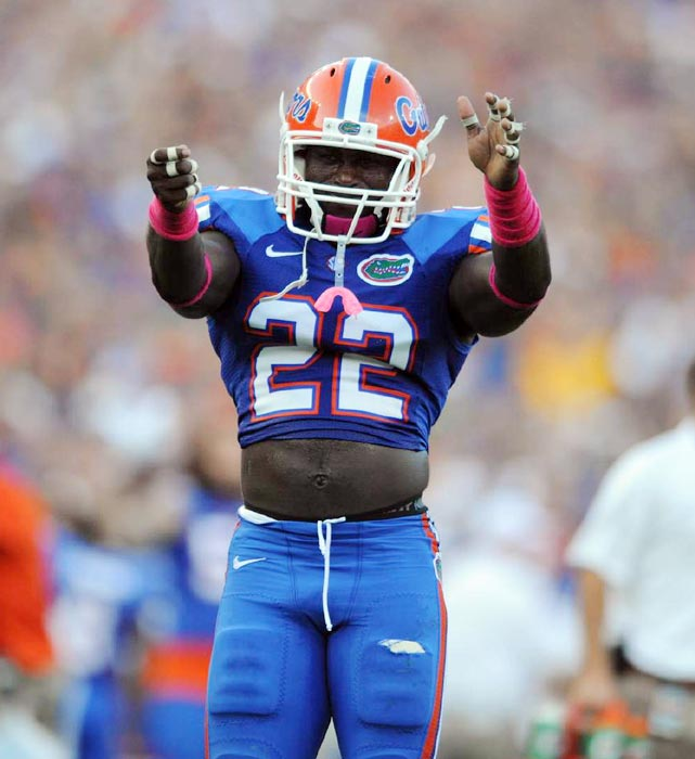 A hard-hitting safety, Matt Elam knows how to punish vulnerable receivers over the middle. He had four interceptions and nine passes defended this season. The Florida junior can also play near the line, as evidenced by his 11 tackles for loss in each of the past two seasons.