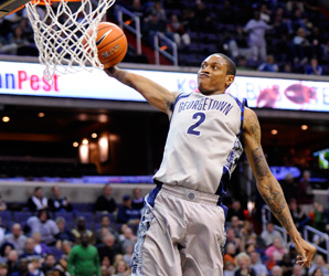 Greg Whittington ranks second on the Georgetown team in points (12.1) and rebounds (7.0) per game.