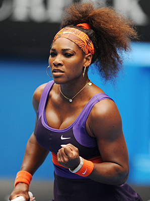 Serena Williams shook off an ankle injury to reach the third round.