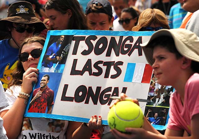 Tsonga had a contingent of French fans at Margaret Court Arena.