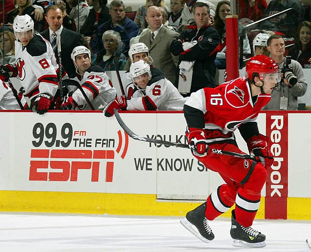 Jan. 6, 2009: Hurricanes 3, Devils Brandon Sutter: 0 PTS Feb. 3, 2010: Flames 4, Hurricanes Brandon Sutter: 0 PTS, -1 Jan. 11, 2011: Hurricanes 6, Flames Brandon Sutter: 1 A, +2 Dec. 6, 2011: Flames 7, Hurricanes Brandon Sutter: 0 PTS, -2 <bold>Brent 2, Brandon 2</bold>