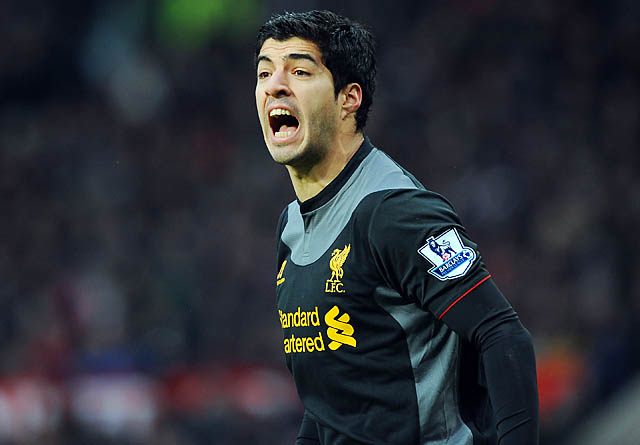 Luis Suarez and Liverpool are mired in eighth place in the English Premier League.