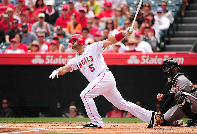 In 2012, Albert Pujols reached the 30-homer, 100-RBI plateau for the 11th time in his 12-year career.
