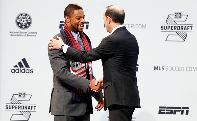 Andrew Farrell was the first overall pick of the 2013 MLS SuperDraft.