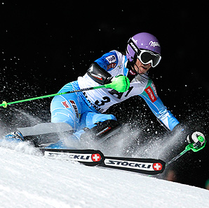 Tina Maze became just the sixth woman with career victories in all five alpine skiing World Cup disciplines.