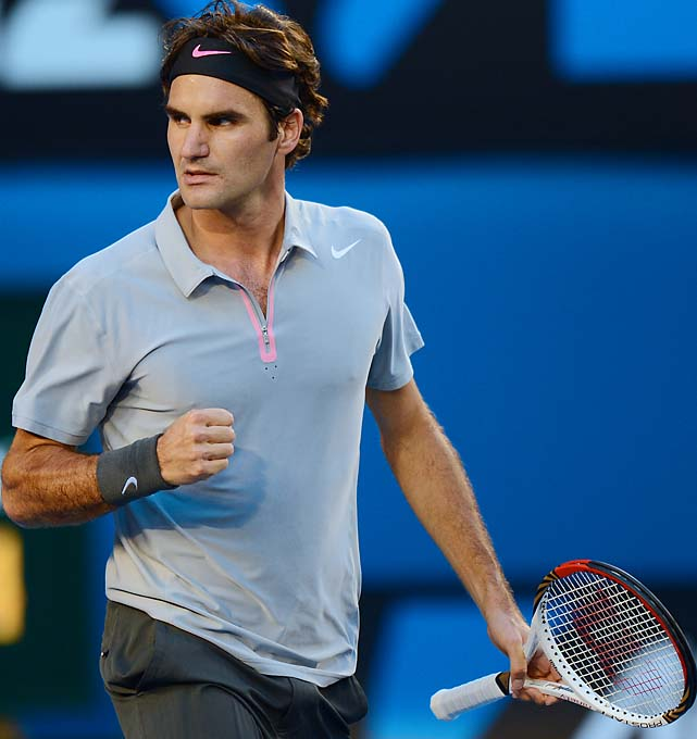 No. 2 Roger Federer beat Bernard Tomic 6-4, 7-5 (6), 6-1. He'll face No. 13 Milos Raonic in the fourth round.