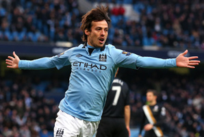 David Silva secured City's fourth straight league win by scoring in the 2nd and 69th minutes.