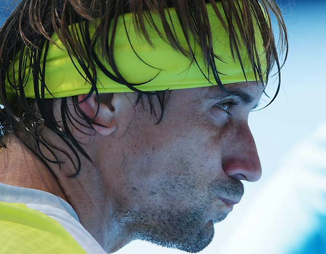 Ferrer reached his third straight Australian Open quarterfinal.