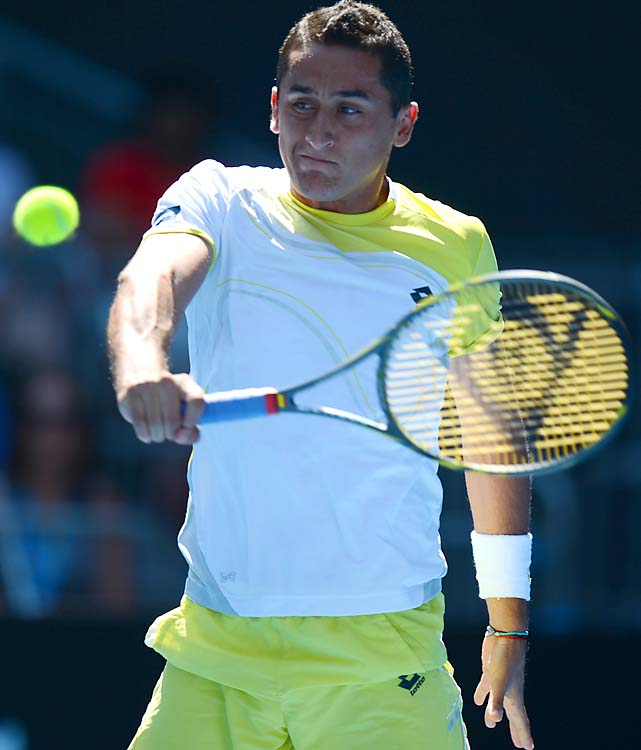 No. 10 Nicolas Almagro advanced to the quarterfinals when No. 8 Janko Tipsarevic retired at 6-2, 5-1. He'll face Ferrer.