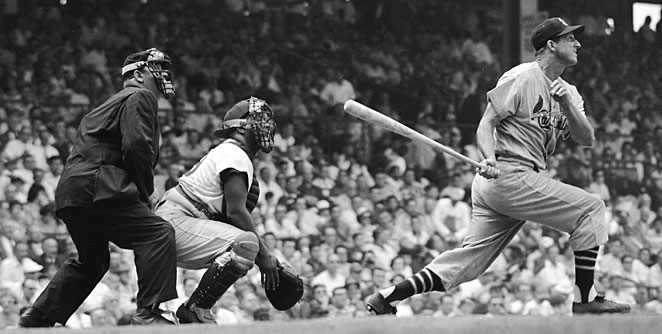 Stan Musial won three NL MVP awards and still ranks fourth in baseball history with 3,630 hits.