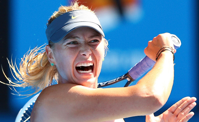 Maria Sharapova conceded only five games en route to the quarterfinals, a record at the Aussie Open.