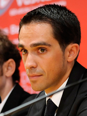 Alberto Contador met reporters on the eve of the Tour de San Luis.