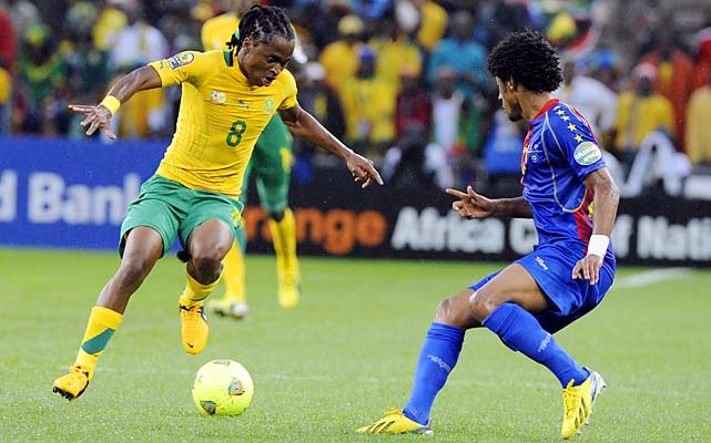 Siphiwe Tshabalala and South Africa play Angola on Wednesday after drawing Cape Verde 0-0.