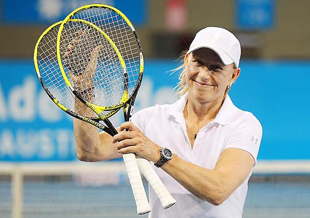 Martina Navratilova is teaming up with Martina Hingis in legends doubles at the Australian Open.
