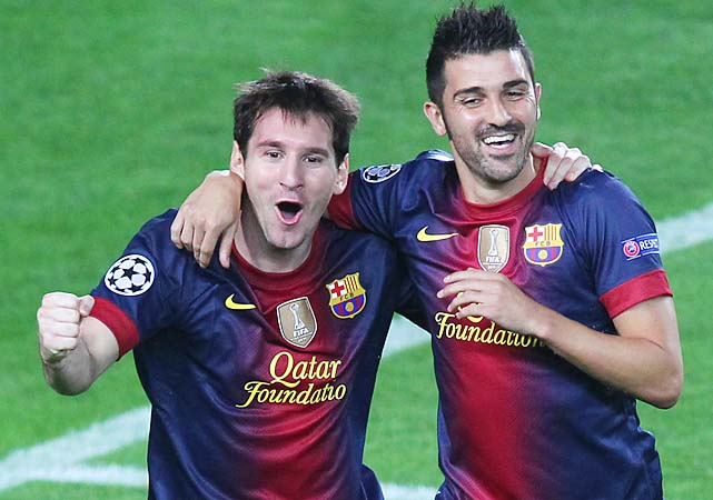Lionel Messi, David Villa and Barcelona are eight points ahead of second-place Atletico Madrid in La Liga.