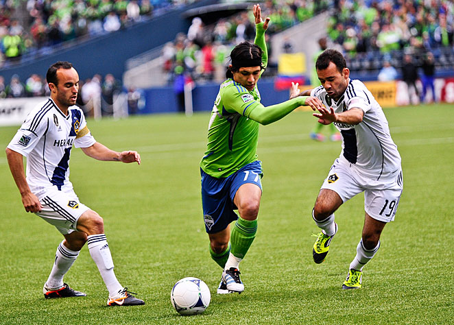 The Seattle Sounders have agreed to loan Fredy Montero (17) to Colombia's Millonarios in 2013.