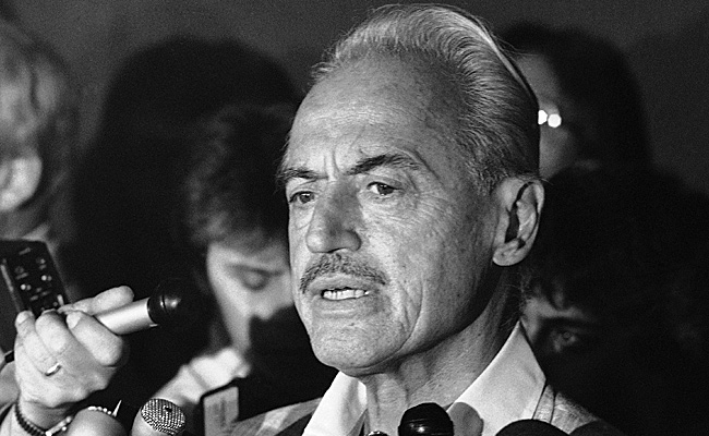 Marvin Miller, shown here in 1981, headed the MLBPA from 1966 to 1982.