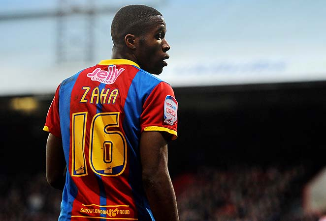 Wilfried Zaha of Crystal Palace looks on during an FA Cup match earlier this year.