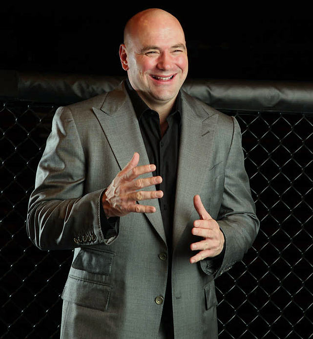 Dana White is a bellman turned businessman who took over the UFC 10 years ago. He still pulls no punches on any topic, from fighters' hearts to women in the cage. White wants to talk and he wants to discuss the future of his brand and the future of fighting. The brash but entertaining owner sits down with Jon Wertheim to talk about fighting, business and being a fan. (Check out SI's web version of the magazine.)