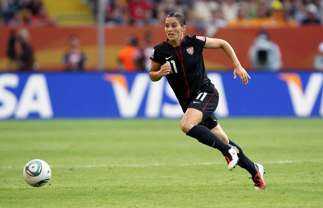 Ali Krieger is returning to the U.S. women's team for the first time since tearing her knee ligaments.