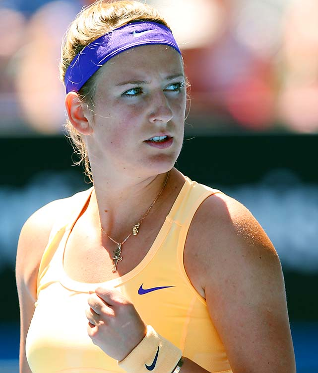 No. 1 Victoria Azarenka beat Svetlana Kuznetsova 7-5, 6-1 to reach the semifinals.