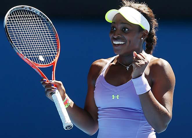 No. 29 Sloane Stephens will face No. 1 Victoria Azarenka in the semifinals Thursday.