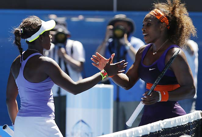 No. 29 Sloane Stephens will face No. 1 Victoria Azarenka in the semifinals Thursday.