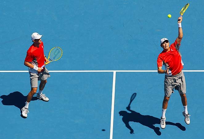 Bob and Mike Bryan have won five Australian Open doubles crowns among 12 Grand Slams overall.