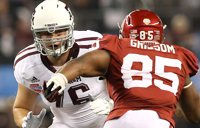 Luke Joeckel, the 2012 Outland Trophy winner, is very much in the mix for the No. 1 overall pick.