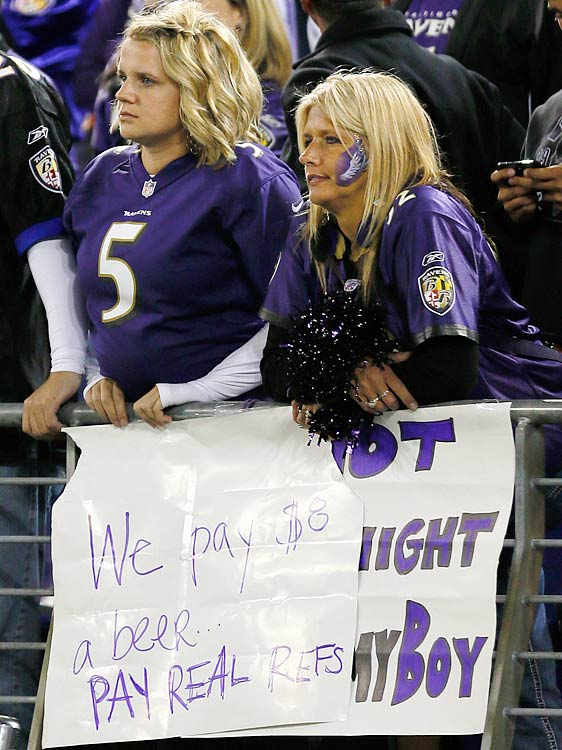 Patriots at Ravens Sept. 23, 2012