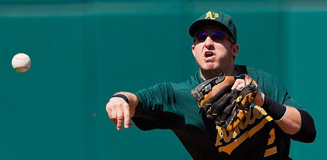 Cliff Pennington was traded from Oakland to Arizona last October.
