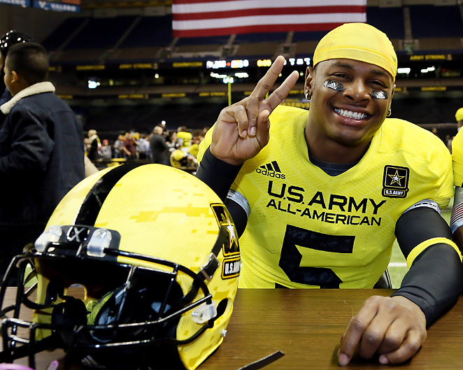 Safety Tahaan Goodman was a defensive standout at this month's U.S. Army All-American Bowl.