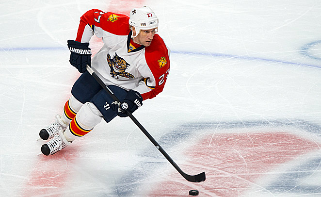 The Panthers are looking to veteran Alexei Kovalev to mentor their growing corps of talented kids.