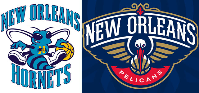 "The New Orleans Hornets officially adopted the ""Pelicans"" moniker on April 18, 2013, launching a new website and new social media accounts. Hornets.com now redirects to Pelicans.com."